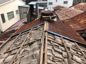 魚町銀天街雨漏り屋根工事